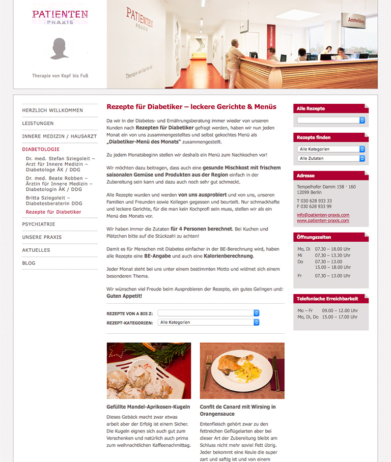 www.patienten-praxis.com - Screenshot - Individolé